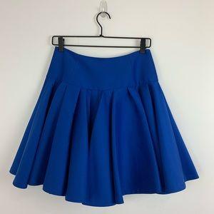 Halston Heritage | Drop Waist Silk Blend Skirt 4